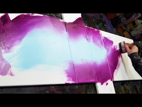 ACRYLIC ABSTRACT PAINTING DEMONSTRATION |  Adrift