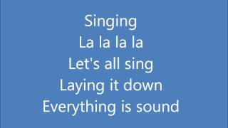 Jason Mraz - Everything Is Sound (Lyrics)