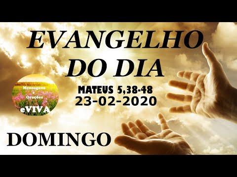 EVANGELHO DO DIA 23/02/2020 Narrado e Comentado - LITURGIA DIÁRIA - HOMILIA DIARIA HOJE