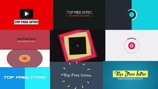 Top 10 Free 2D Intro Templates No Plugins After Effects CS6 CC Download