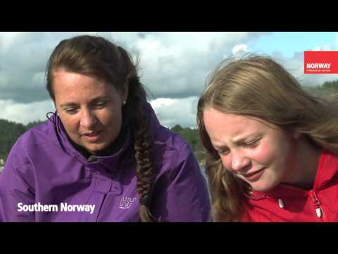 Family fishing in Southern Norway