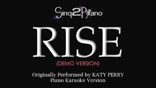 RISE (Piano karaoke demo) Katy Perry