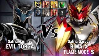 Satria Harimau Evil Torga Vs Bima-X Flame MODE S. width=