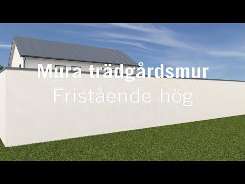 Mura fristående trädgårdsmur - hög