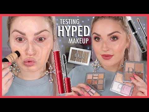 Testing HYPED Makeup ?? Full Face LUXURY & HIGH END First Impressions