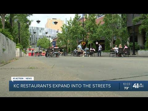 Street closure near Power and Light helps restaurants adjust