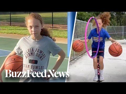 12-Year-Old Girl Has Basketball Skills
