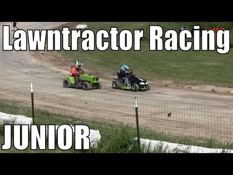 Junior Class Lawntractor Racing At Western Ontario Outlaws July 7 2019 - MAINS