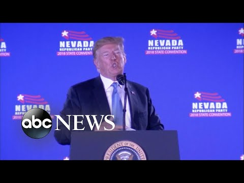 Trump blames Democrats for his administration's immigration failures at Vegas rally
