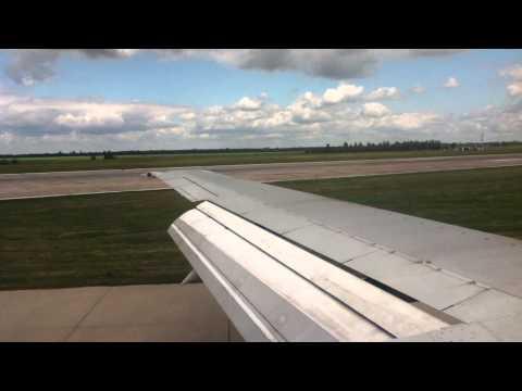 Ukraine International Airlines Boeing 737-500 landing in Kiev Boryspil
