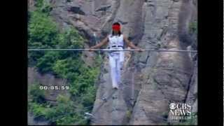 Chinese tightrope walker falls