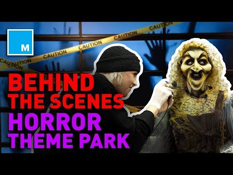 📺 Exclusive: Behind The Scenes HORROR Theme Park | Mashable