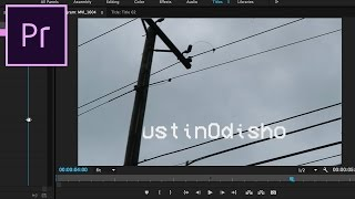 Adobe Premiere Pro CC Tutorial: How to Wipe or Reveal Title Text with Video Interaction