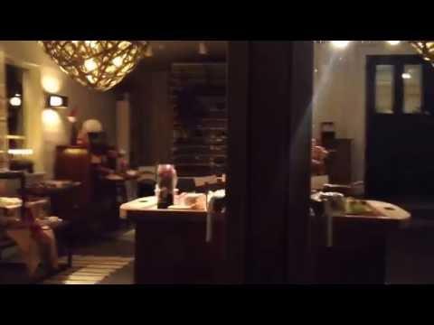 Dessertrummet på Salt & Sills julbord. Filmat från bryggan.
