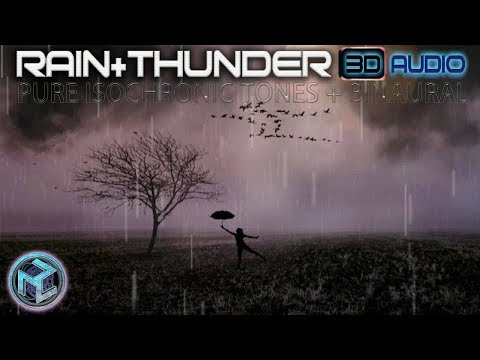 ✦RAIN Sounds With THUNDER✦ Theta To Delta Isochronic Tones