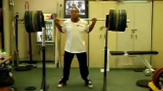 220 kg Raw Back Squat @ 85kg