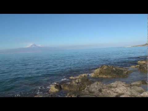 Etna and Ionian Sea at Brucoli, Sicily