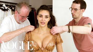 Kim Kardashian West Gets Fitted for Her Waist-Snatching Met Gala Look   Vogue