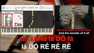 Wonderful Tonight Eric Clapton Karaoke acordes guitarra e notas flauta piano Educacao Musical