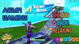 ASMR Gaming | Fortnite Awesome Duo Returns! Relaxing 🎮🎧Controller Sounds + Whispering😴💤