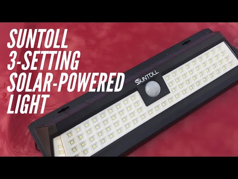 Suntoll 3-Setting Solar-Powered Light: $24 To Light Up My Front Yard At Night