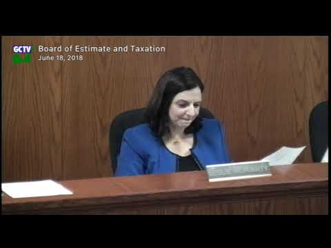Board of Estimate and Taxation, June 18