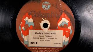 WESTERN UNION BLUES by Maggie Jones 1924