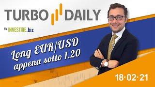 Turbo Daily 18.02.2021 - Long EURUSD appena sotto 1.20