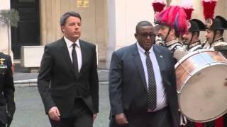 Italian PM Matteo Renzi recieves Somalia PM Omar Abdirashid