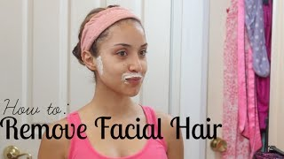 How I Remove My Facial Hair [Painless, Quick, & Easy] | Dulce Candy width=