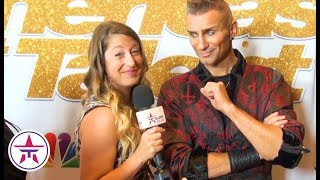America's Got Talent: Aaron Crow Gives SILENT Interview While Showing  Off His SEXY Stare!