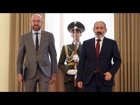 """""""Estamos do vosso lado"""", diz Charles Michel ao PM da Arménia"""