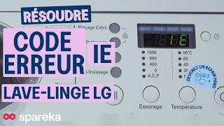Code Panne IE - Lave-Linge LG