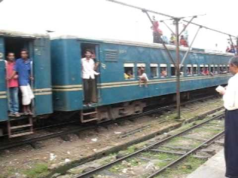 Train at  Mymensingh station in Bangladesh