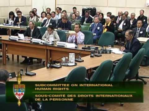 Điều trần về 'Tình Trạng Nhân Quyền tại Việt Nam' tại QH Canada 28/5/2015
