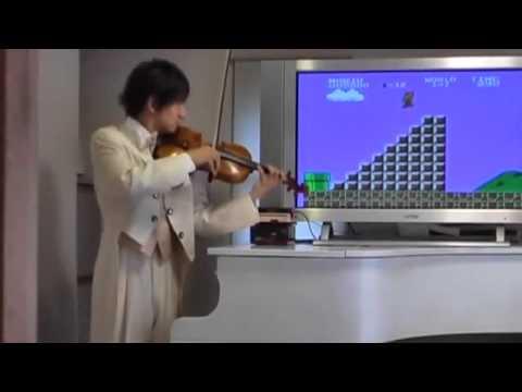 Super Mario au violon