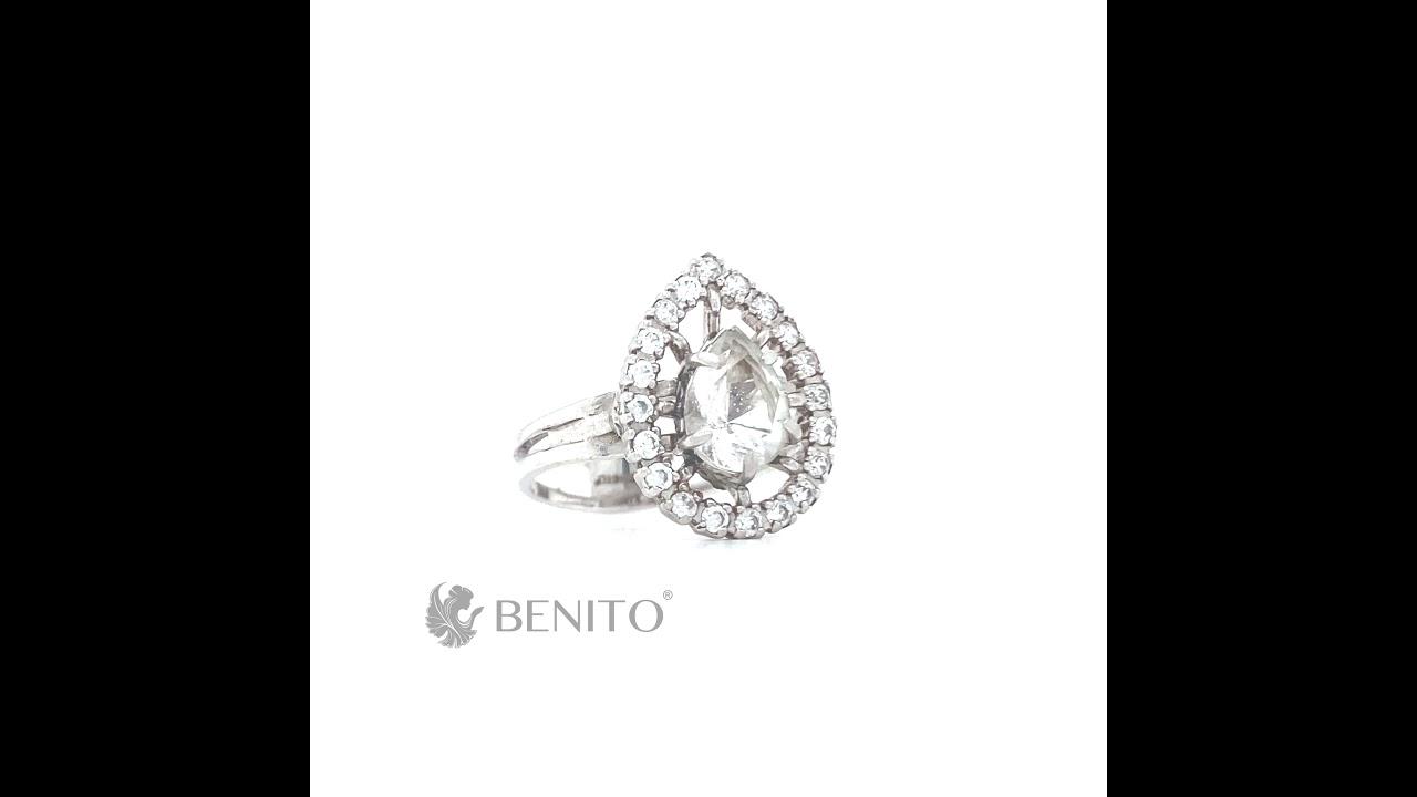 Lolita Ring White Mountain Crystal Stone