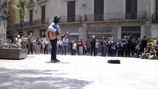 Clarence Milton Bekker aka CB Milton playing 'Killing Me Softly' in Barcelona