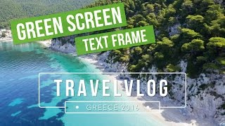 Trendy Text Frame | Green Screen