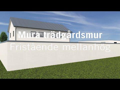 Mura fristående trädgårdsmur - mellanhög