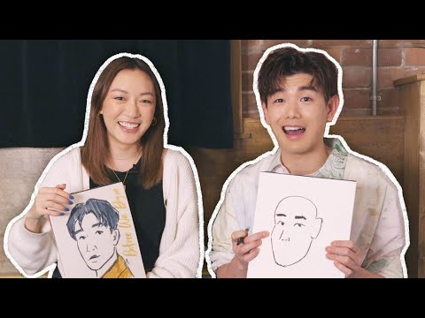 Eric Nam Tries to Keep Up with a Portrait Artist