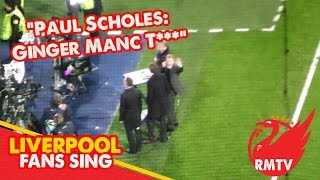 """Scholes reacts to """"Ginger Manc Tw*t"""" song by Liverpool fans"""