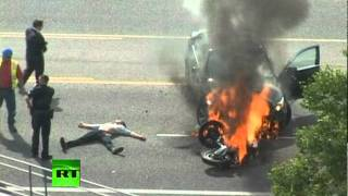 Flame Throwers: Video of crash victim saved from burning car in Utah