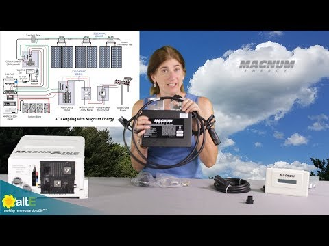 We give an overview of Magnum Energy's Micro GT500 grid-tied microinverter. Each inverter can connect to two solar panels, up to 310W each. The inverter will output up to 500W  240V 60Hz AC.