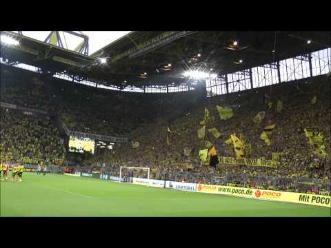 Borussia Dortmund - Gladbach 4-0 - Verdientes Abfeiern nach dem Sieg BVB