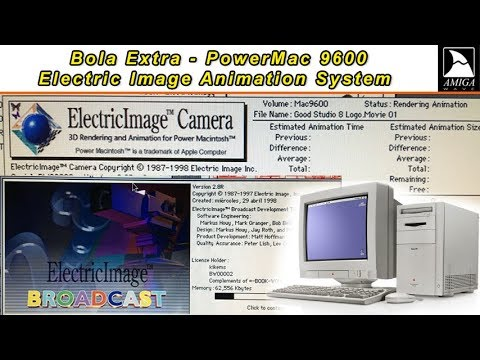 Bola Extra - Electric Image Animation System en PowerMac 9600