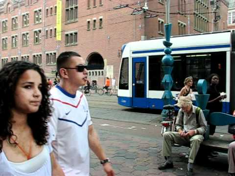 Amsterdam the day of the South Africa 2010 World Cup final