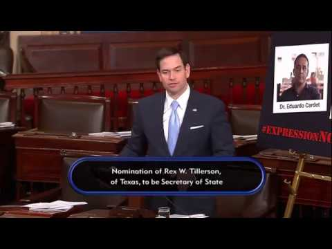 In human rights speech, Rubio demands release of Cuban political prisoner