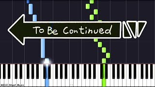To Be Continued - Piano Tutorial (Roundabout)