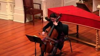 J.S. Bach: Suite in G Major BWV 1007, Sarabande; Adaiha MacAdam-Somer, baroque cello.